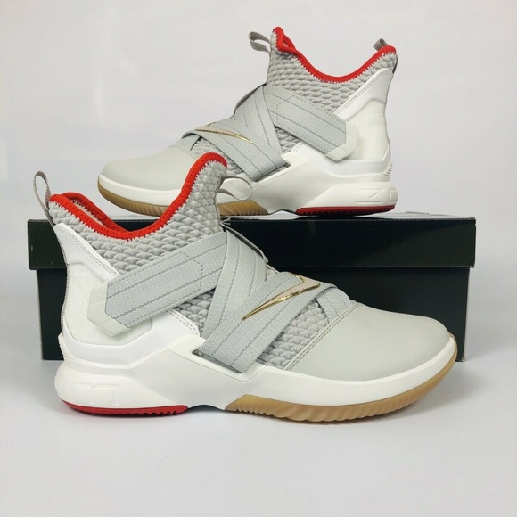 finest selection f2feb 391d7 Nike Lebron Soldier XII Light Bone